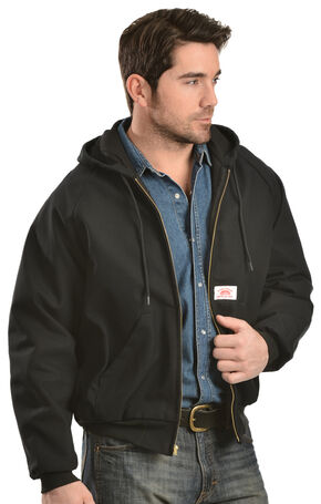 Round House Black Hooded Duck Work Jacket, Black, hi-res