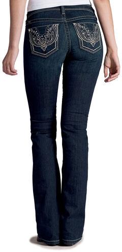 Ariat Women's Turquoise Firebird Bootcut Jeans, , hi-res
