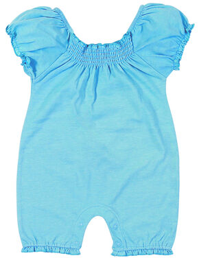 Wrangler Infant Girls' Blue Short Sleeve Bodysuit, Blue, hi-res
