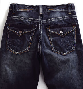 Tin Haul Men's Regular Joe Straight Leg Flap Pocket Jeans, Denim, hi-res