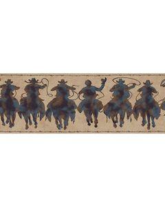 York Wallcoverings Silhouette Riders Wallpaper Border, , hi-res