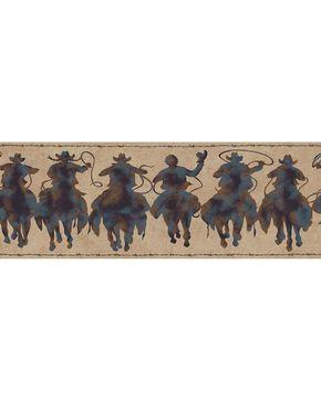 York Wallcoverings Silhouette Riders Wallpaper Border, Multi, hi-res