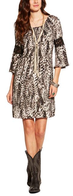 Ariat Women's Poppy Print Crepe Dress , Multi, hi-res
