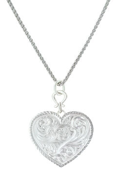 Montana Silversmiths True Western Heart Necklace , , hi-res
