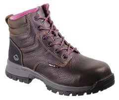 """Wolverine Piper Ladies 6"""" Waterproof Work Boots - Composite Toe, , hi-res"""