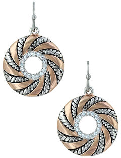 Montana Silversmiths Twisted Wreath of Burnished Ribbon Earrings , , hi-res