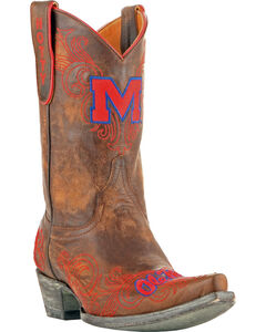 Gameday University of Mississippi Cowgirl Boots - Snip Toe, , hi-res