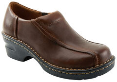 Eastland Women's Brown Tracie Slip-Ons , , hi-res