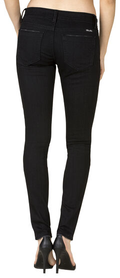 Miss Me Women's Black Mid-Rise Skinny Jeans - Extended Sizes , , hi-res