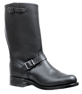 Boulet Oil-Resistant Buckle Boots - Round Toe, Black, hi-res