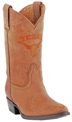 Gameday Boots Girls' University of Texas Western Boots - Medium Toe, , hi-res