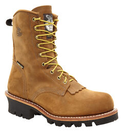 Georgia Insulated Gore-Tex Waterproof Logger Work Boots - Steel Toe, , hi-res