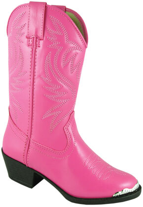 Smoky Mountain Youth Girls' Mesquite Western Boots - Round Toe, Pink, hi-res