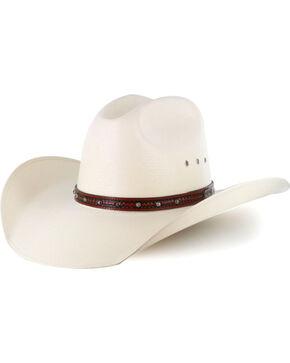 Larry Mahan Men's 10X Flint Straw Hat, Natural, hi-res