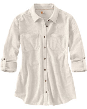 Carhartt Women's Medina Shirt, Cream, hi-res