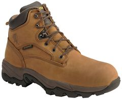 "Chippewa Waterproof Bay Apache 6"" Lace-Up Work Boots - Round Toe, , hi-res"