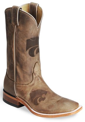 Nocona Kansas State Wildcats College Boots - Sq Toe, Tan, hi-res