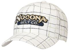 Nocona Logo Patch Plaid Cap, , hi-res