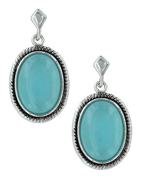 Montana Silversmiths Misty Blue Pool Earrings , Turquoise, hi-res