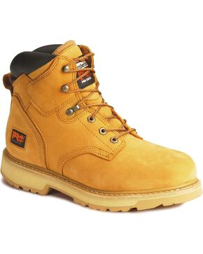 "Timberland PRO Pit Boss 6"" Lace-Up Work Boots - Steel Toe, Wheat, hi-res"