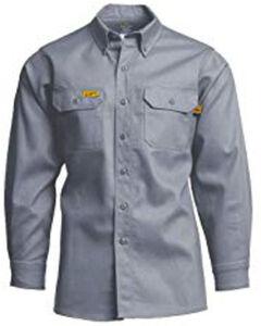 Lapco Men's Khaki FR Uniform Shirt , , hi-res