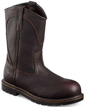Red Wing Irish Setter Farmington Pull-On Work Boots - Aluminum Toe, Brown, hi-res