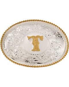 """Montana Silversmiths Initial """"T"""" Buckle, , hi-res"""
