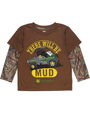 John Deere Toddler Boys' Brown There Will Be Mud T-Shirt , Brown, hi-res