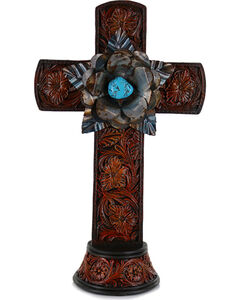 Gift Craft Western Style Polyresin Cross, , hi-res