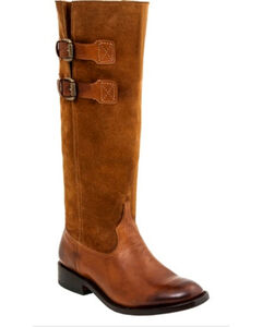 Lucchese Women's Paige Suede Riding Boots - Round Toe , , hi-res