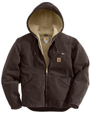 Carhartt Sierra Sherpa Lined Work Jacket - Big & Tall, Brown, hi-res