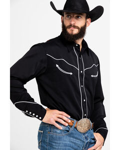 Roper Americana Collection Red, White and Blue Embroidered Skull Western Shirt, , hi-res
