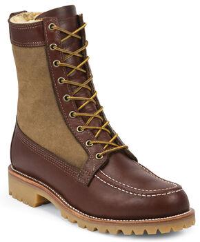Chippewa Men's Shearling Hunting Boots - Round Toe , Tan, hi-res