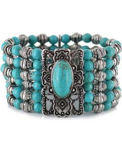 Shyanne Women's Beaded Turquoise Bracelet , , hi-res