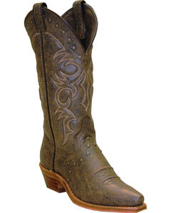 Abilene Boots Women's Vintage Nailhead Cowgirl Boots - Snip Toe, , hi-res