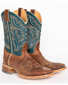 Cody James Men's Blue Cowboy Boots - Square Toe, , hi-res