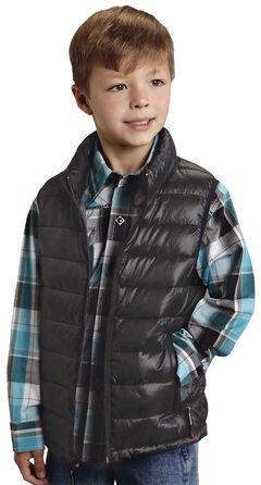 Roper Boy's Rangegear Crushable Black Vest, , hi-res