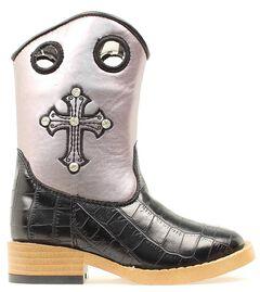 Blazin Roxx Girls' Sonora Croc Print Cowgirl Boots - Square Toe, , hi-res