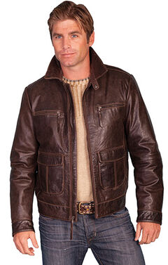 Scully Zip Front Four Pocket Leather Jacket, , hi-res