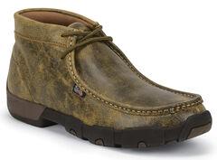 Justin Men's Waxy Tan Bomber Driver Moc Shoes , , hi-res