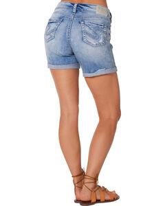 Silver Women's Boyfriend Denim Shorts , , hi-res