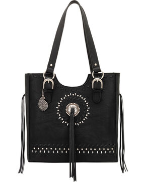 Bandana by American West Sioux Collection Three Compartment Tote, Black, hi-res