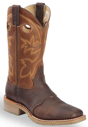 Double H Men's Western Saddle Work Boots -  Steel Toe, Rust, hi-res
