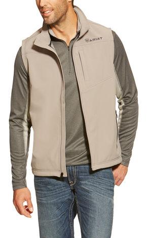 Ariat Men's Vernon Grey Softshell Vest, Grey, hi-res