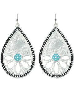 Montana Silversmiths Women's Summer's Meadow Earrings , Silver, hi-res