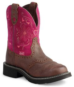 Justin Gypsy Heart Cowgirl Boots - Round Toe, , hi-res