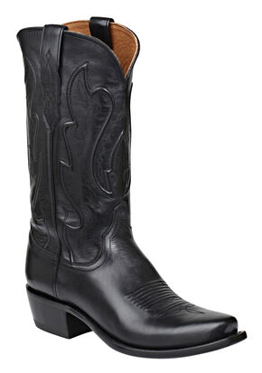 Lucchese Handmade 1883 Men's Cole Cowboy Boots - Snip Toe, Black, hi-res