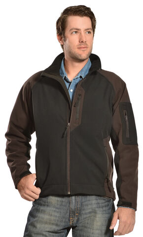 Red Ranch Men's Two-Tone Black Bonded Jacket , Black, hi-res