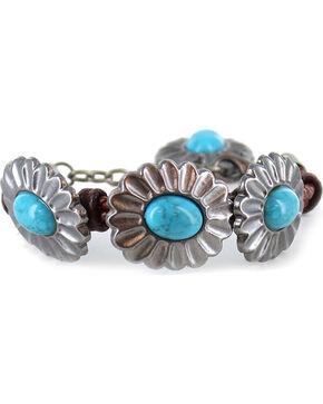 Shyanne Women's Turquoise Concho Bracelet, Brown, hi-res