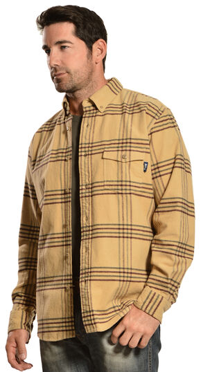 Woolrich Tiadaghton Tan Plaid Shirt, Tan, hi-res